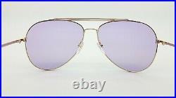 New Tom Ford Indiana sunglasses FT0497 28Y 58mm Rose Gold Violet GENUINE Aviator