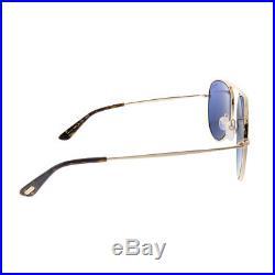 New Tom Ford Jason-02 TF 621 28V Light Rose Gold Metal Sunglasses Blue Lens