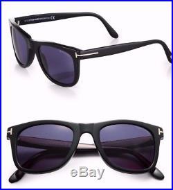 New Tom Ford Leo TF 336 01V Black Sunglasses Unisex 52mm w case