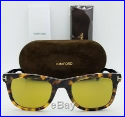 New Tom Ford Leo sunglasses TF0336 55N 52mm Tortoise Brown Yellow TF 336 Bond