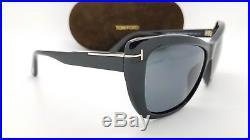 60a954d123 New Tom Ford Lindsay sunglasses TF0434 01D Black Polarized CatEye cat FT TF  434