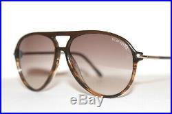 New Tom Ford Matteo Tf254 50f Havana Brown Aviator Sunglasses Italy 59-13 MM