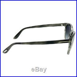 New Tom Ford Nicolo-02 TF 629 56B Grey Striated Sunglasses Grey Gradient Lens