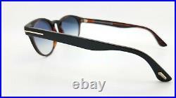 New Tom Ford Palmer sunglasses FT0522/S 05B 51mm Black on Havana Grey Gradient