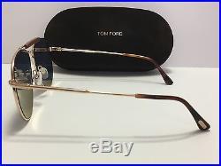 New Tom Ford Sean TF 536 28Z Rose Gold/Light Violet Mirror Women Aviator