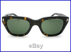 New Tom Ford Snowdon TF 237 52N Dark Havana Green Authentic Sunglasses Bond