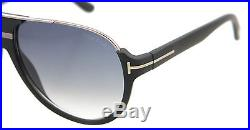 8216ee295eb6e New Tom Ford Sunglasses Men Aviator TF 334 Matte Black 02W Dimitry 59mm