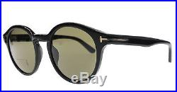 New Tom Ford Sunglasses Men Round TF 400 Lucho Black 01J TF400 49mm