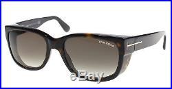 New Tom Ford Sunglasses Men TF 441 Black 52K Carson 56mm