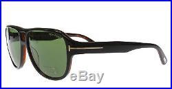 New Tom Ford Sunglasses Men TF 446 Black 05N Dylan 57mm