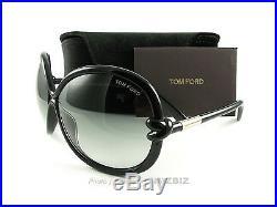 New Tom Ford Sunglasses TF 185 Sonja 01B Black FT0185/S Authentic