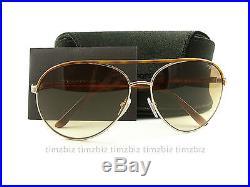 New Tom Ford Sunglasses TF112 Silvano 28F Havana Gold FT0112/S Authentic