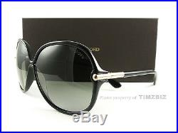 New Tom Ford Sunglasses TF224 Islay 01F Black FT0224/S Authentic
