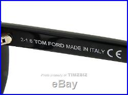 New Tom Ford Sunglasses TF253 Madison 01B Black FT0253/S Authentic