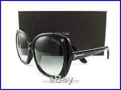 New Tom Ford Sunglasses TF362/F/S Gabriella 01B Black FT0362/F/S Authentic