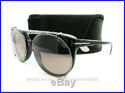 New Tom Ford Sunglasses TF370 Agatha 05A Black White FT0370/S Authentic