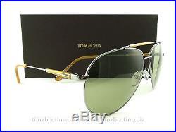 New Tom Ford Sunglasses TF378 Rick 14N Ruthenium FT0378/S Authentic