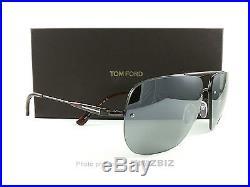 New Tom Ford Sunglasses TF380 Nils 09Q Gunmetal Brown Tortoise FT0380/S Italy