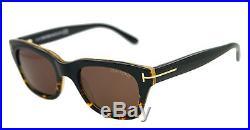 New Tom Ford Sunglasses Unisex TF 237 Black 05J Snowdon 52mm TF237