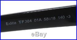 New Tom Ford Sunglasses Women Cat Eye TF 384 Black 01A Edita 58mm