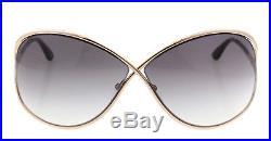 New Tom Ford Sunglasses Women TF 130 Rose Gold 28B Miranda TF130 68mm