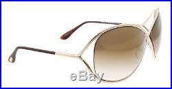 New Tom Ford Sunglasses Women TF 130 Shiny Rose Gold 28G Miranda TF130 68mm