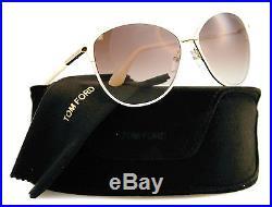 New Tom Ford Sunglasses Women TF 320 Beige 32F Penelope 59mm