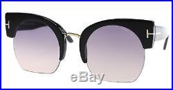 New Tom Ford Sunglasses Women TF 552 Black 01B SAVANNAH-02 55mm
