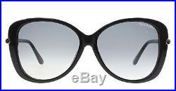 New Tom Ford Sunglasses Women TF 9324 Black 01B Linda 59mm