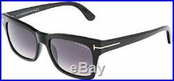 New Tom Ford TF 494 01B Frederik Sunglasses Shiny Black Gray Lens Authentic 54mm