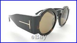 New Tom Ford Tatiana-02 sunglasses FT0603/S 52J 47mm Havana Brown GENUINE Round