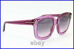 New Tom Ford Tf 279 90w Christophe Purple Sunglasses Authentic 53-23