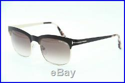 New Tom Ford Tf 437 48f Brown Elena Gradient Authentic Frames Sunglasses 54-17