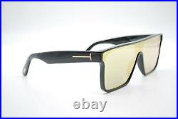 New Tom Ford Tf 709 01g Black Gold Authentic Frame Sunglasses 144