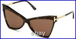 New Tom Ford Tf 767 52e Dark Havana Brown Authentic Frame Sunglasses 61-14
