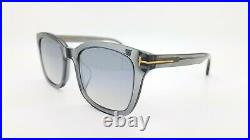 New Tom Ford sunglasses FT0638-K/S 20C 55mm Transparent Grey / Silver Mirror