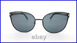 New Tom Ford sunglasses FT0718-K/S 01A 62mm Black / Gold / Grey AUTHENTIC Womens