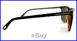 POLARIZED TOM FORD KARLIE Black Havana Grey Green Sunglasses TF 392 FT 0392 01R