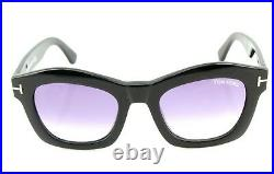 RARE Genuine NEW TOM FORD GRETA Shiny Black Violet Sunglasses TF 431 FT 0431 01Z