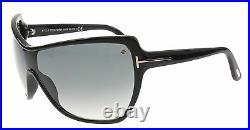 RARE NEW Authentic TOM FORD Ekaterina Black Shield Sunglasses TF 363 FT 0363 01B