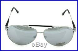 RARE NEW TOM FORD RICK Black Silver Mirror Pilot Sunglasses TF 378 FT 0378 14Q