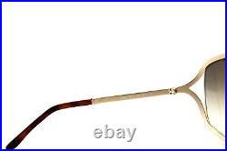 RARE New Authentic TOM FORD RICKIE Brown Gold Butterfly Sunglasses TF 179 48F FT