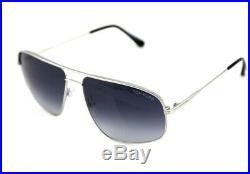 RARE New TOM FORD Justin Palladium Blue Grey Pilot Sunglasses TF 467 FT 0467 17W