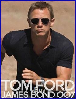RARE TOM FORD William JAMES BOND 007 Blue Lens Sunglasses TF 207 FT 0207 17V