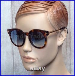 SALE TOM FORD JANINA Men Women Round Oval Sunglasses HAVANA BLUE 0435 52P