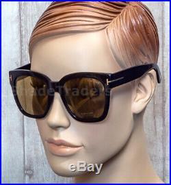 Sale Tom Ford Women Oversized Sunglasses Black Gold Brown Bi-mirror 0431d 01g