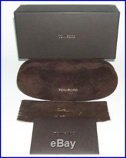 TOM FORD AARON FT0473 01V ROSE GOLD & BLACK BLUE AVIATOR SUNGLASSES 53 mm