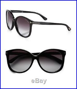 Tom Ford Alicia Sunglasses In Shiny Black Ft0275/s 01f 59