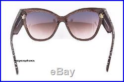 TOM FORD Anoushka TF 371 50F Brown Cateye Sunglasses 140MM NWT AUTH FT 0371
