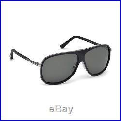 TOM FORD Aviator Herren Sonnenbrille CHRIS FT0462S 02N Schwarz Silber / Grün NEU
